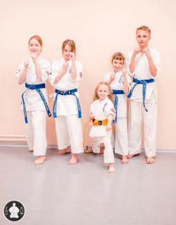 Ученики секции каратэ